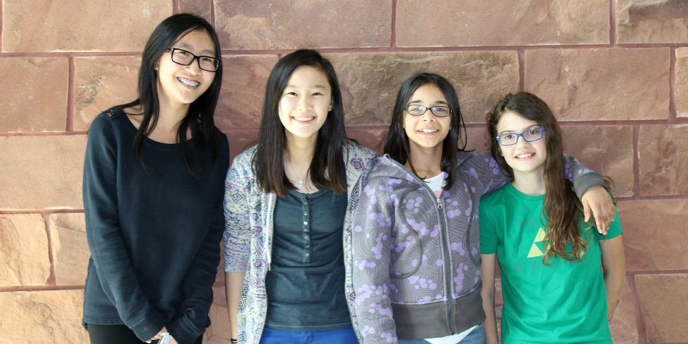 Intro to Coding instructors Shirley, Deanna, Alannah and Rachel are all alumni of the Girls Coding Club run by DiscoverE.