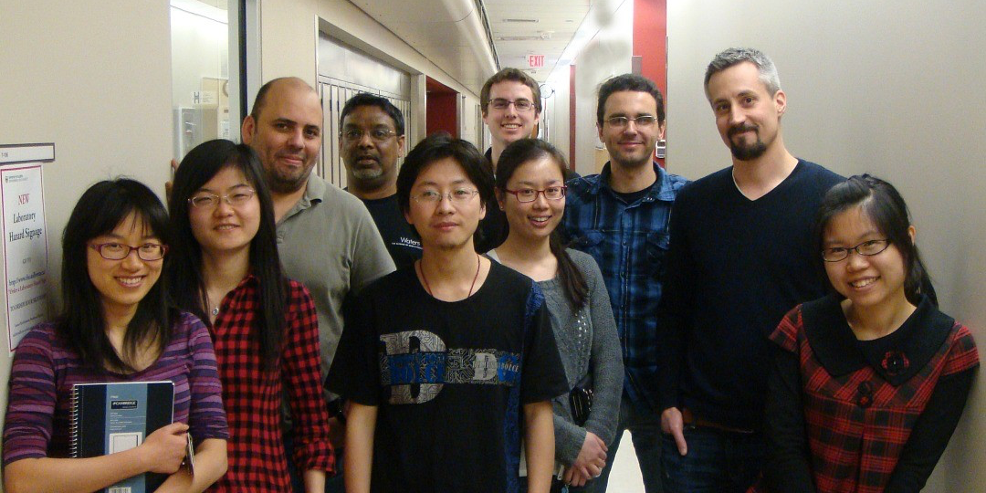 Jonathan Martin (second right) with the team he credits for helping him make the 2014 list of the world's most cited researchers.