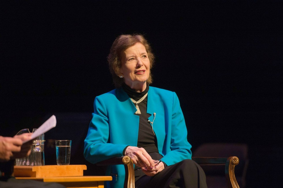 Mary Robinson in a public conversation with former U of A board chair Jim Edwards June 21, 2016