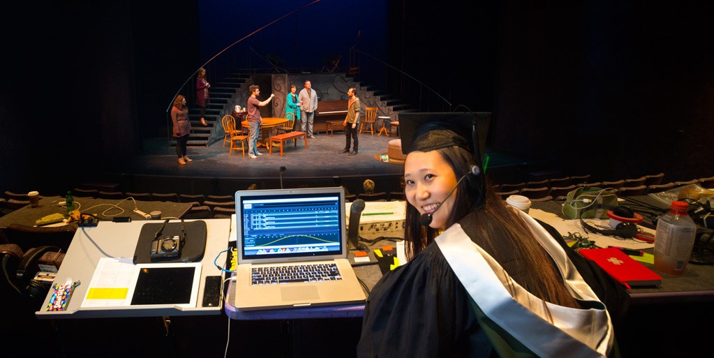 Mona Jiang is a performing arts triple threat: actor, dancer, and now BFA in stage management. (Photo: Richard Siemens)