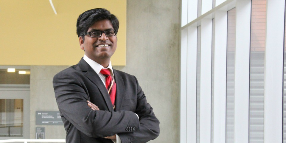 Naga Siva Kumar Gunda worked on new technologies in health care and the environment while earning his engineering PhD. Now, he's investigating the world of technology commercialization.