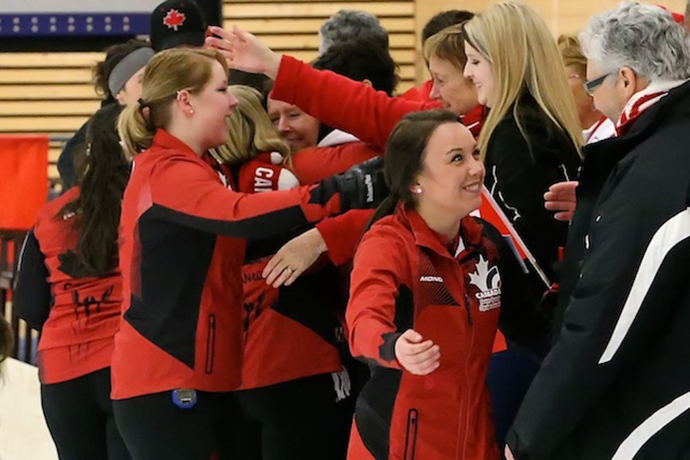 The Pandas curling team also represented Canada at the 2014 world junior championships in Switzerland, where they won Canada's first gold medal in 11 years.