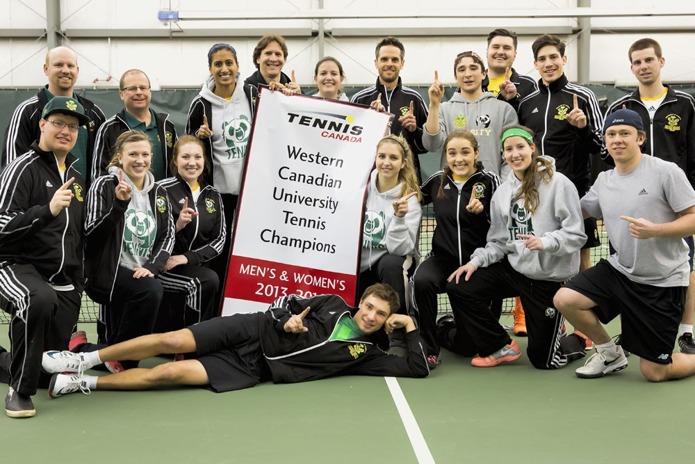 The U of A tennis program also had a successful 2013-14 campaign, as the Bears and Pandas combined to win the program's fourth straight western regional title. The tennis teams will play in their national championship in August in Montreal.