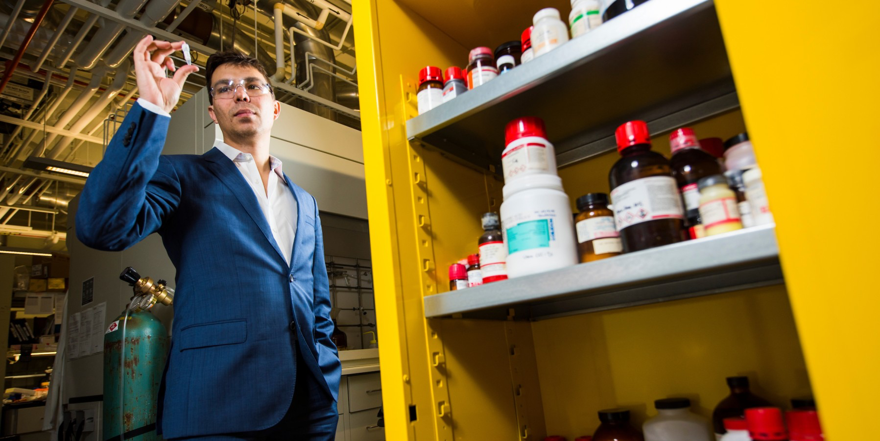 Ratmir Derda, assistant professor with the Department of Chemistry, uses the power of Google to push the boundaries of chemical biology.