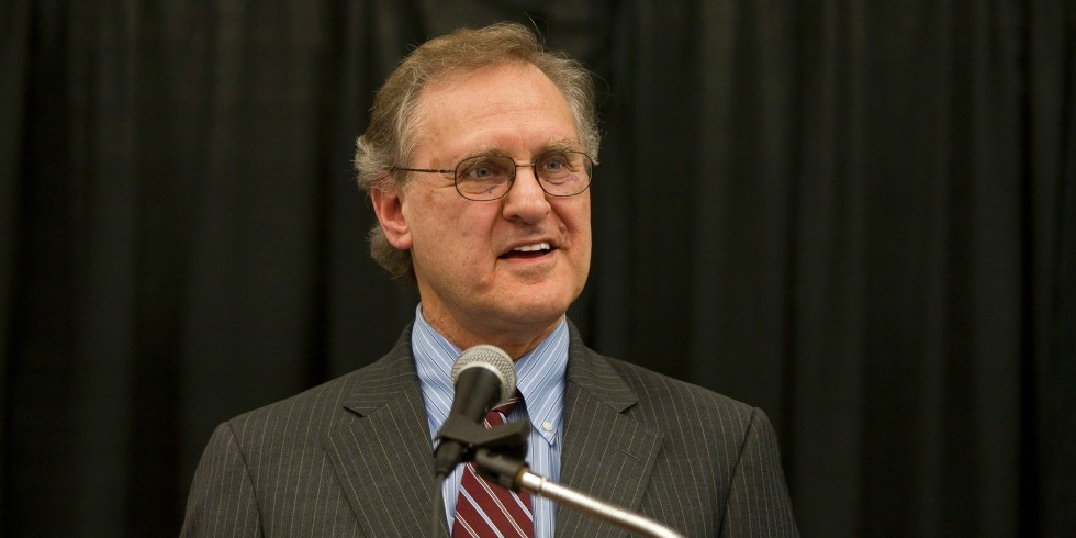 Stephen Lewis brings his public-speaking prowess to UAlberta for a keynote address on January 29th during International Week 2016. (Photo: Gordon Griffiths, courtesy of Stephen Lewis Foundation)