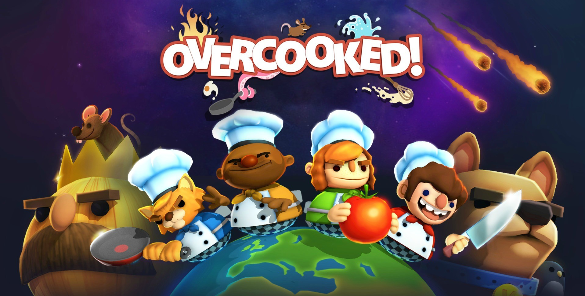 "The culinary chaos of ""Overcooked"" makes it the perfect co-op video game to play during the frenzied holiday season. (Image: Ghost Town Games)"
