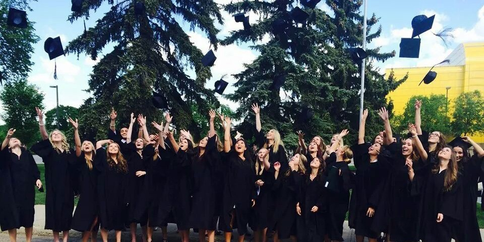 The dental hygiene diploma class of 2014 celebrate their above-average performance on the national certification exam, a standard the UAlberta grads have achieved for nine straight years.