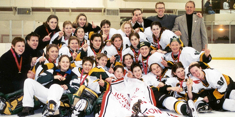 The first ever Pandas hockey championship team (1999-2000).