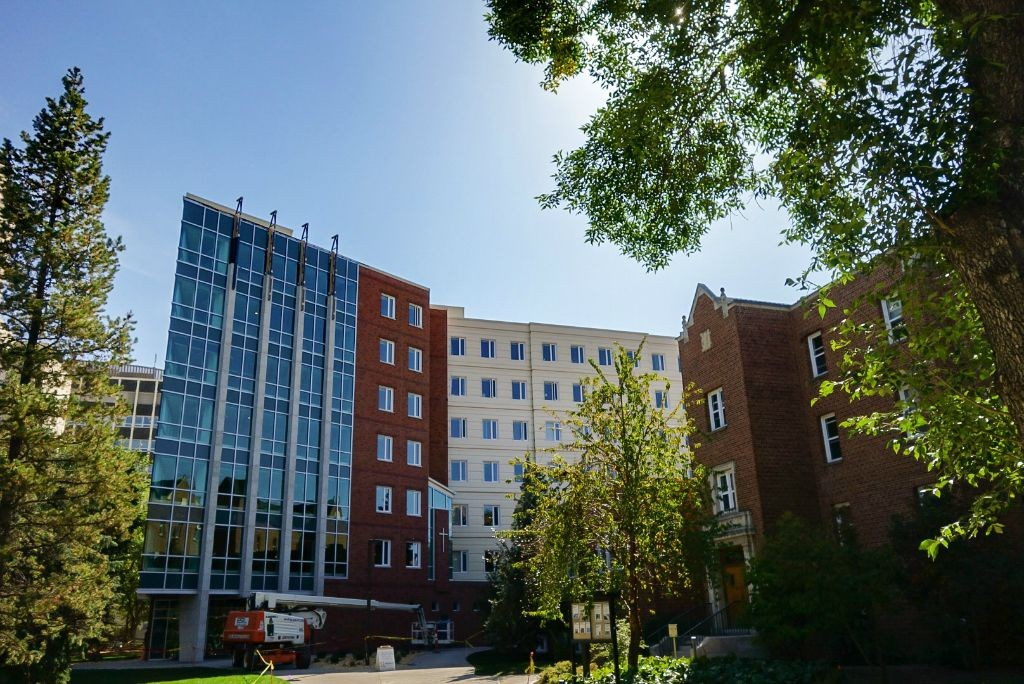 The new women's residence at St. Joseph's College offers living space for 284 students.