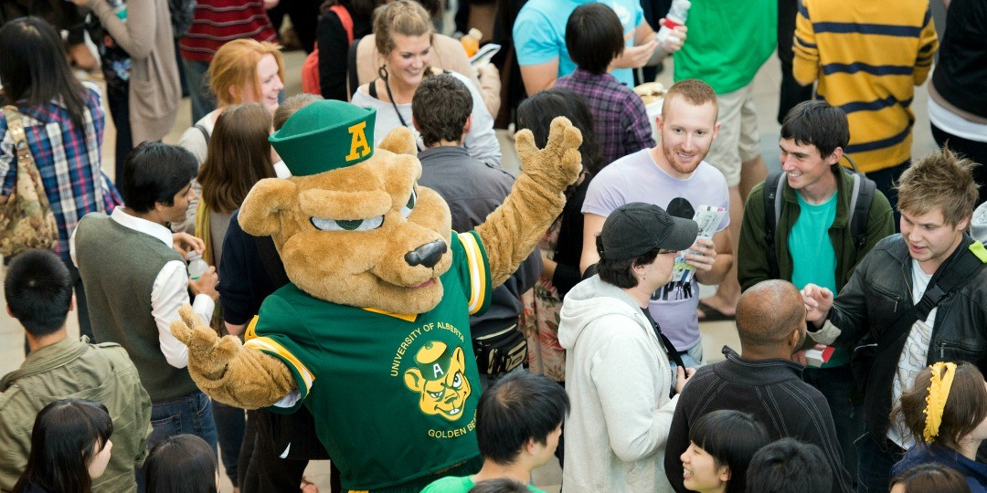 The return of students to the UAlberta campus is always reason to celebrate. (Photo: John Ulan)