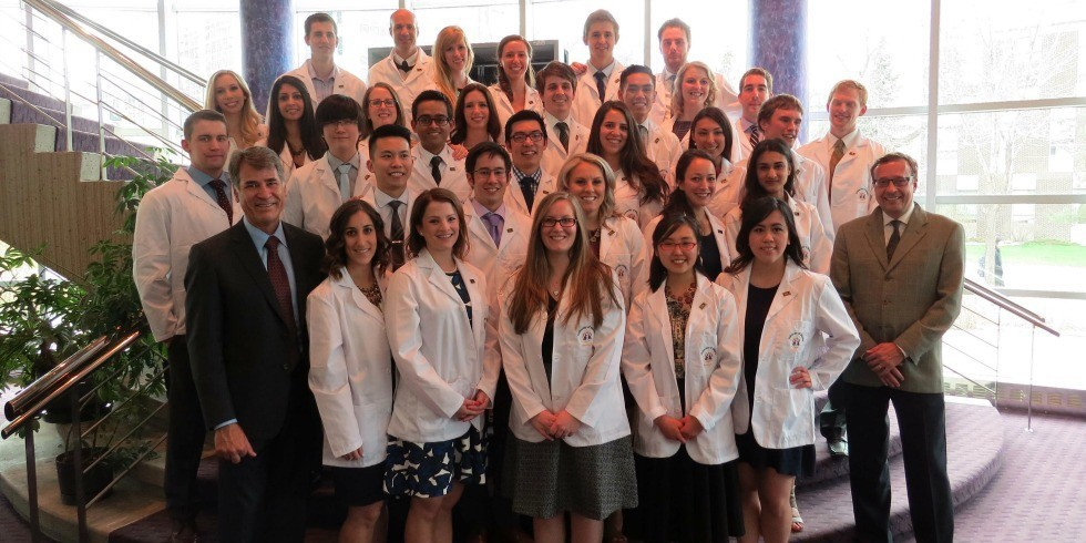 The School of Dentistry's class of 2017 officially received their white coats marking the beginning of their clinical education.