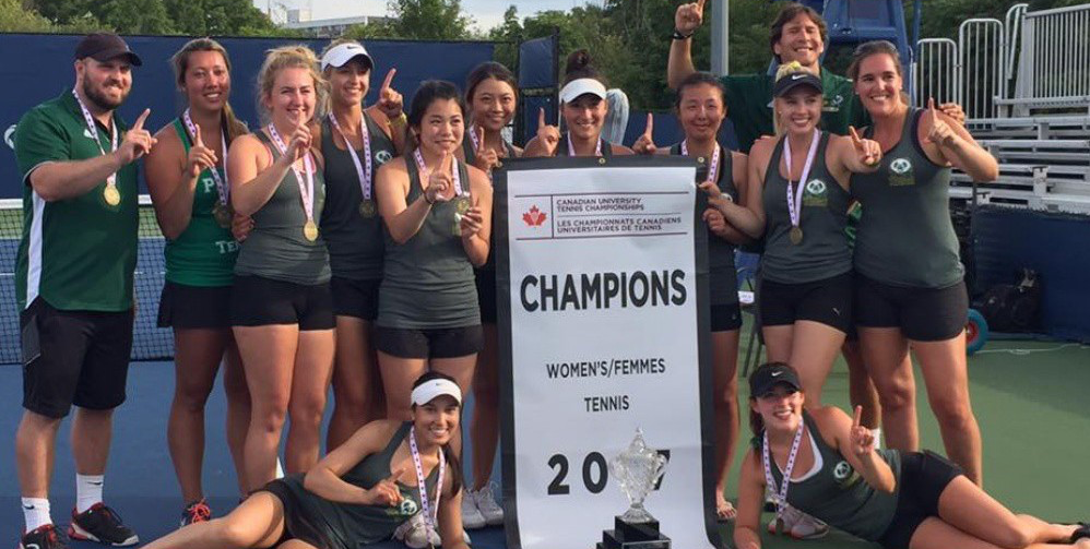 The University of Alberta Pandas tennis team won the 2017 Canadian University Tennis Championship in Toronto Aug 13. (Supplied photo)