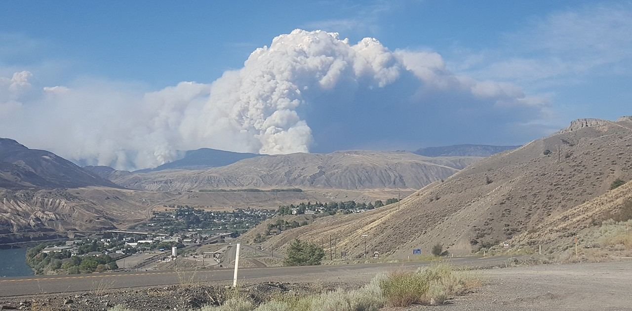 Fires like this one near Ashcroft, B.C., are happening with increasing regularity. In fact, changing weather patterns that are more conducive to wildfire, combined with more people on the landscape, are creating increasingly unmanageable wildfire activity. We need public investment, argue the authors, in wildfire management and fire research to reduce this risk. (Photo: Mike Flannigan)