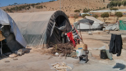 A refugee camp in northern Syria, close to the Turkish border, that Al-Nuaimi visited in August 2013.