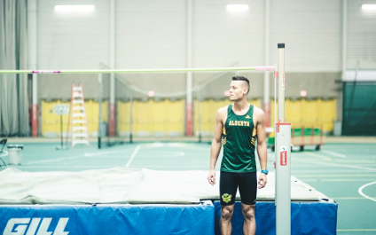 As a member of the Golden Bears track and field team, Isaac Tyler had his best high jump ever, placing third in the CanWest championships this year by clearing a bar nearly two metres high.