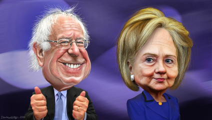 Bernie Sanders' populist appeal won't be enough for him to beat Hillary Clinton on Super Tuesday, says Garber. (Illustration: DonkeyHotey, Flickr, shared under Creative Commons licence)