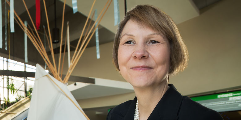 Cindy Blackstock, winner of the University of Alberta's 2014 Community Scholar Award (Photo: Richard Siemens).