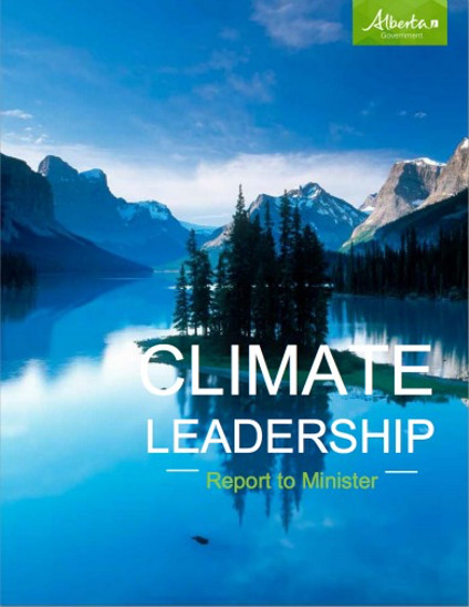 Cover of Alberta's Climate Leadership Plan