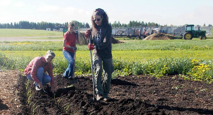 Down to earth: Debra Davidson works with students and volunteers as director of the Prairie Urban Farm on UAlberta's South Campus.