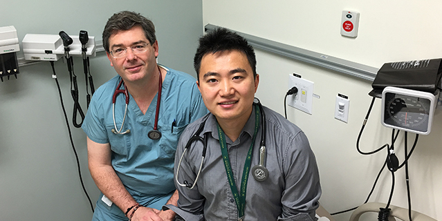 Drs. Scott Garrison (left) and Fangwei Liu.