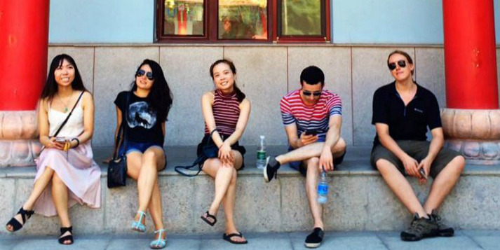 Finola Hackett (second left) was among 34 UAlberta students who spent a month in Harbin, China, immersing themselves in the local culture. (Photo: QC Gu)