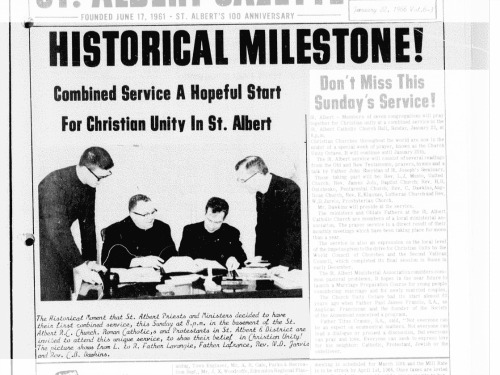 Front page of the St. Albert Gazette from June 17, 1961.