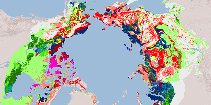 A global mapping project shows where thermokarst landscape coverage is in the permafrost (the darkest areas have the highest coverage). The map will help scientists predict where carbon release due to permafrost thawing will be most likely, since it's quite dramatic in thermokarst landform regions..
