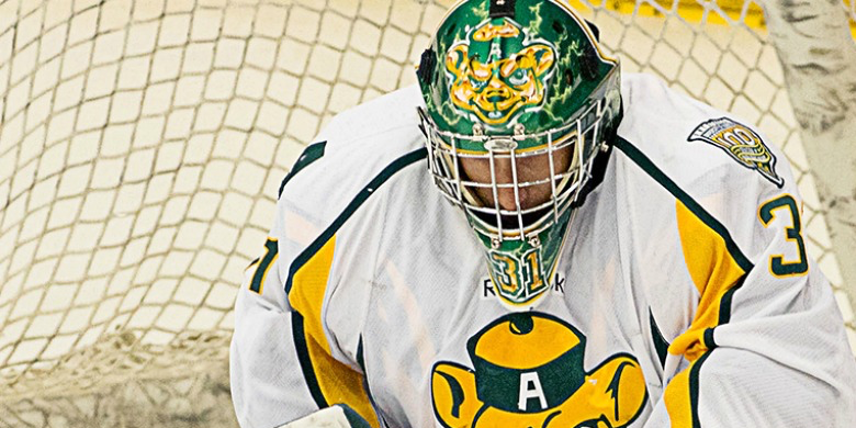 Golden Bears goaltender Kurtis Mucha.