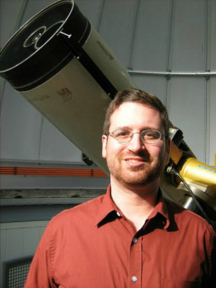 Gregory Sivakoff is deputy director of the U of A observatory, which attracts 4,000 visitors each year.