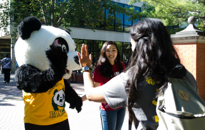 Patches is as happy as GUBA that students are back for the 2014-15 academic year.