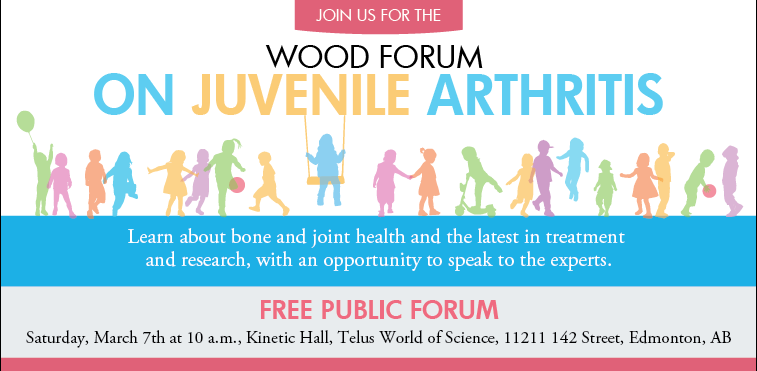 Hosted by the Faculty of Rehabilitation Medicine, the Wood Forum on Juvenile Arthritis connects families affected by this disease with health experts.