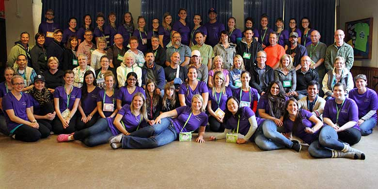 Nearly 40 campers—people with aphasia and their families—attended the second annual Alberta Aphasia Camp in September. (Photo: Amanda Lise)