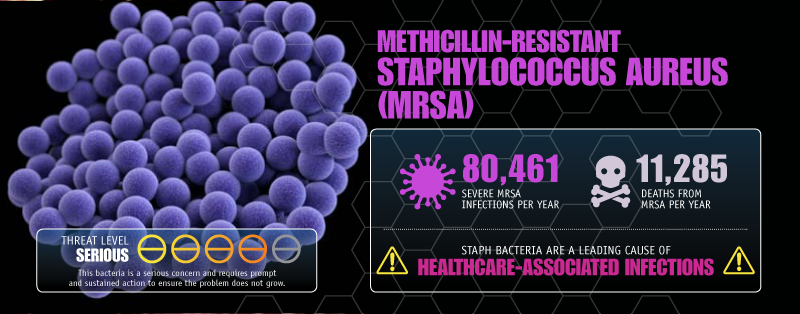 MRSA can cause a range of infections, from boils or pimples to serious problems like pneumonia or blood infections. (Image- CDC)