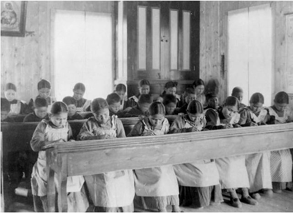 Residential school in Fort Resolution, N.W.T. (credit: Library and Archives Canada)