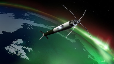 The ICI-4 sounding rocket will investigate how space weather can interfere with radio communication and GPS navigation in the North. (Image- University of Oslo)