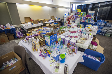 "The supply-room ""store"" in Lister Centre has everything a growing baby needs, thanks to the generosity of donors."