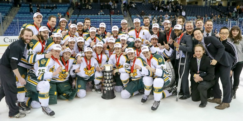 The University of Alberta Golden Bears won their record-setting 14th CIS national championship in 2014.
