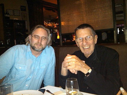 Vern Thiessen with Leonard Nimoy