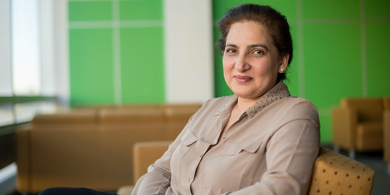 Zubia Mumtaz, a professor in UAlberta's School of Public Health, focused her latest research on why maternal health has been slow to improve among poor women in Pakistan. (Photo: Richard Siemens)
