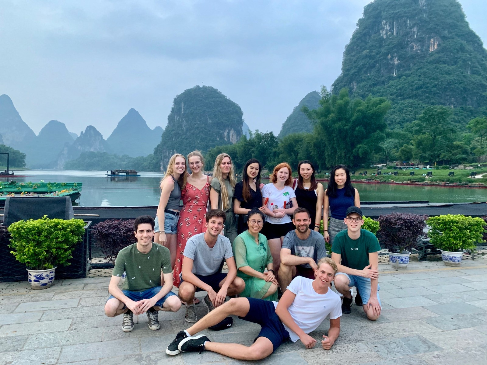 Studenten van de minor Chinese Taal en Cultuur in Guilin