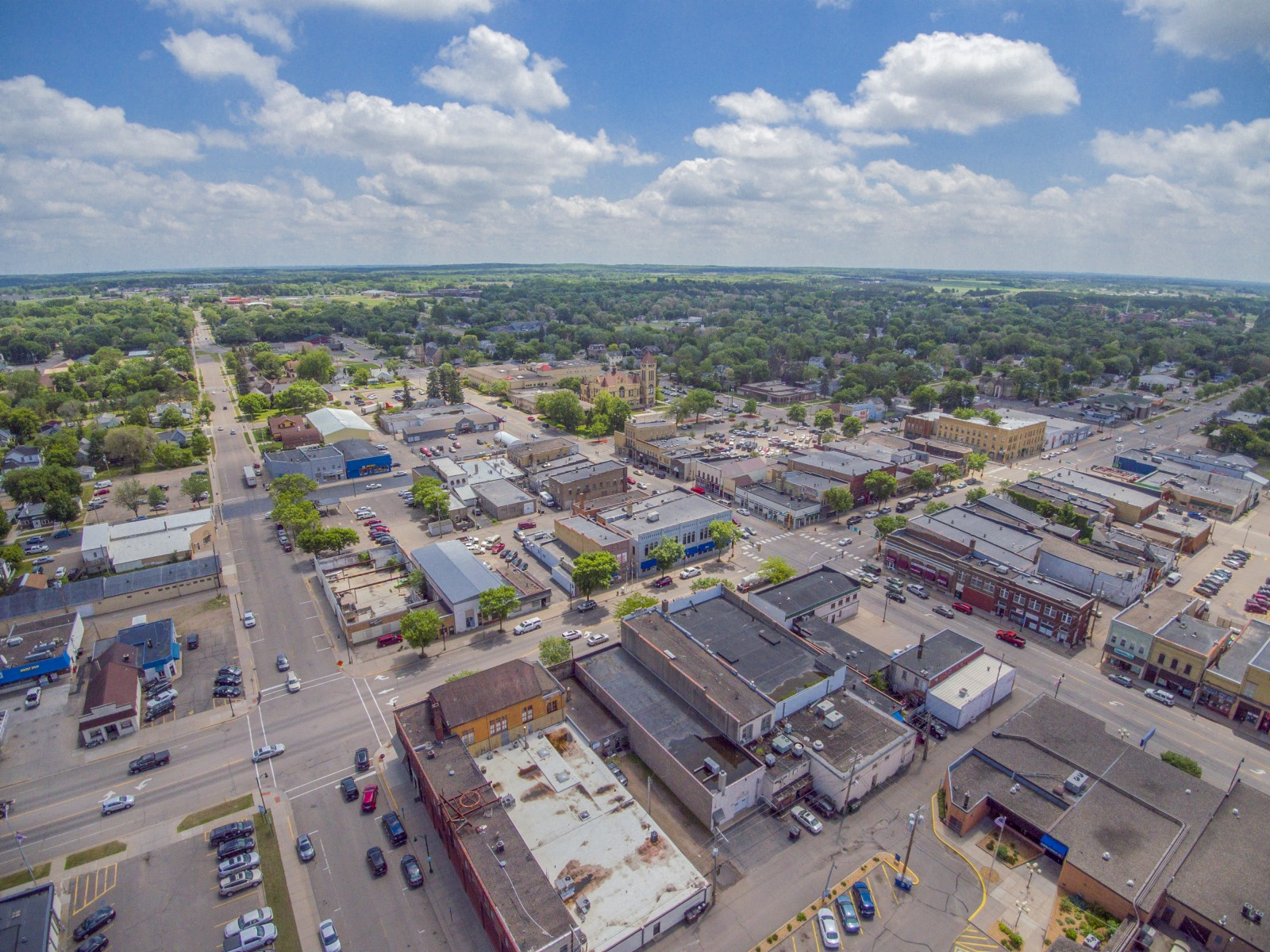 Aerial Downtown Little Falls