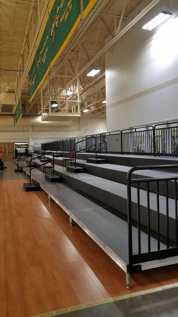 When Black Hills State University wanted to upgrade its outdated balcony bleacher seating from old wooden risers to demountable equipment, it turned to a Sourcewell-awarded vendor and scored points all around.
