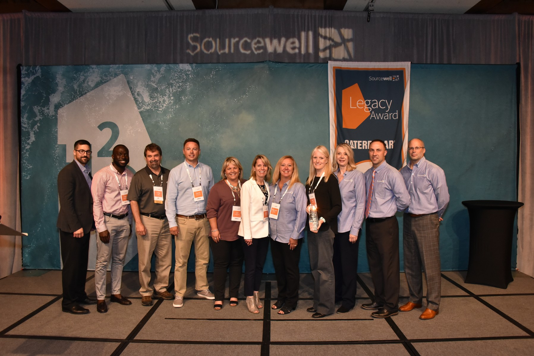 Caterpillar received the 2019 Sourcewell Legacy Award at the 12th annual H2O Vendor Forum in Minnesota