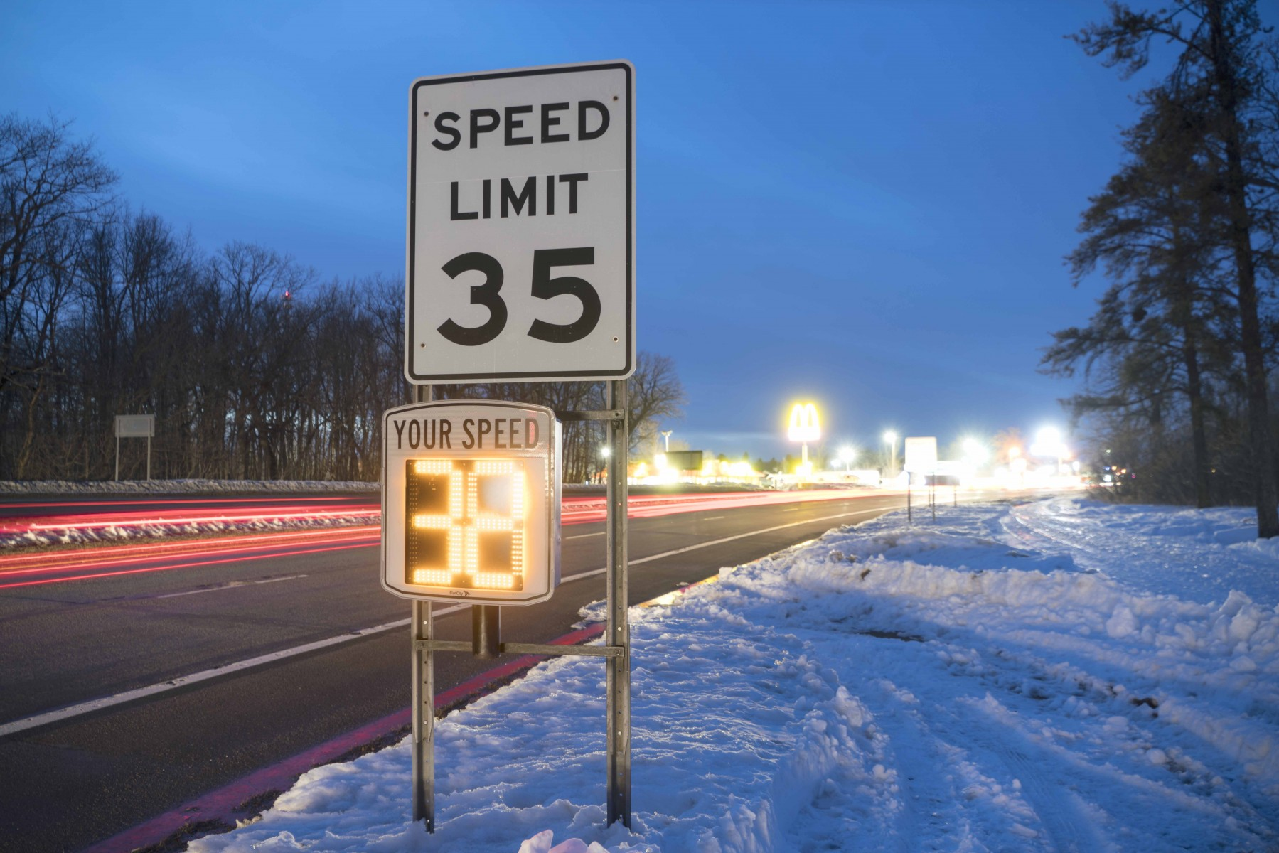 Small Project Partnership funding helped the city of Garrison purchase electronic speed signs.