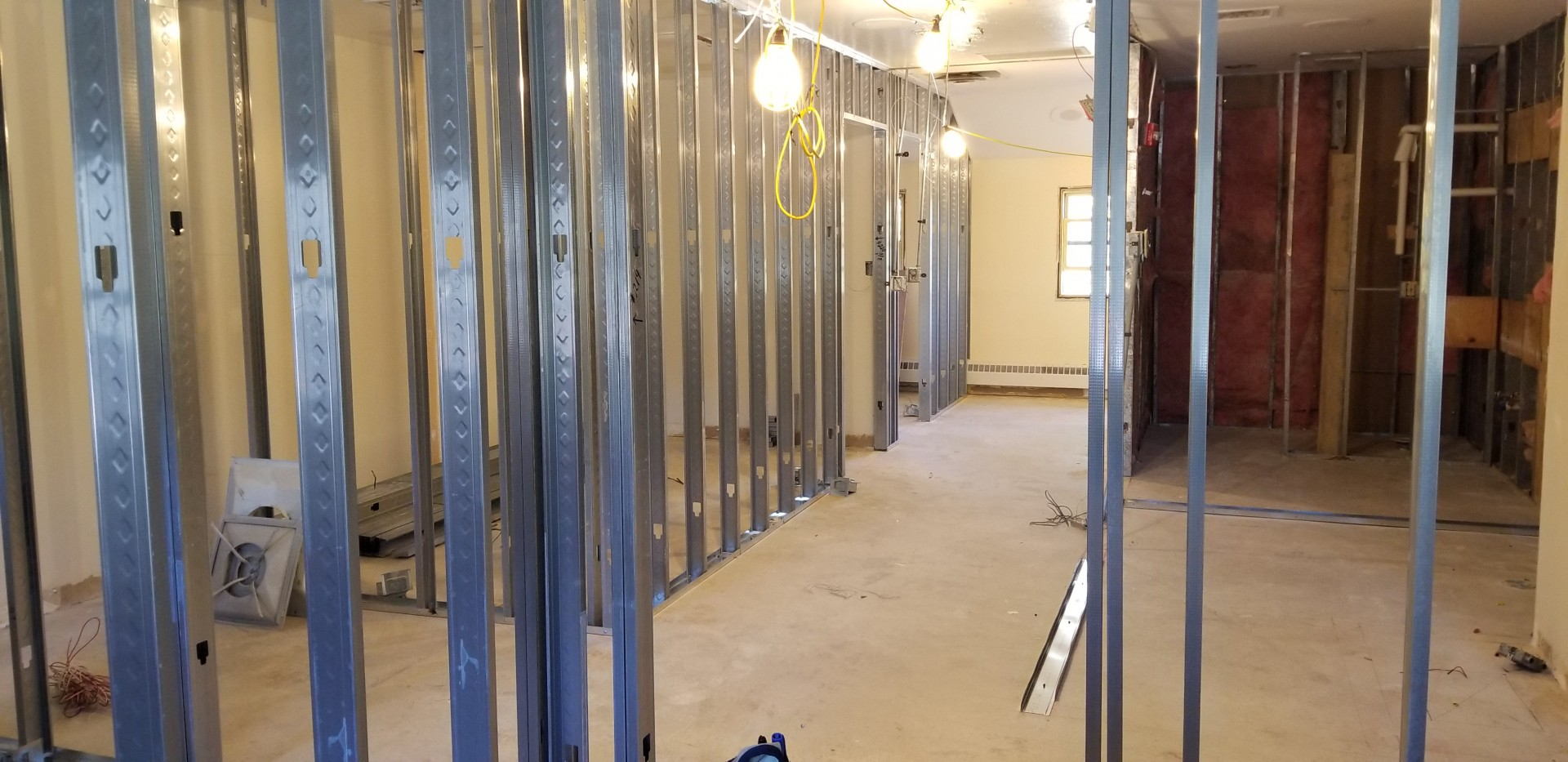 The renovation project at Station 1 is making the dormitory space safer for firefighters and is expected to be complete by the end of December 2020.