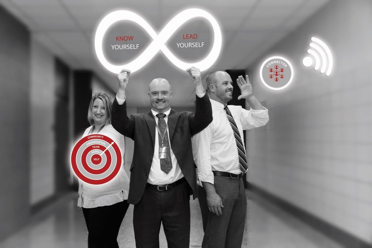 Melissa Hesch, Eagle View Elementary Principal (left), Chris Lindholm, Pequot Lakes Superintendent (middle), and Mike O'Neil, Pequot Lakes Middle School Principal (right) pose with their favorite GiANT   tool.