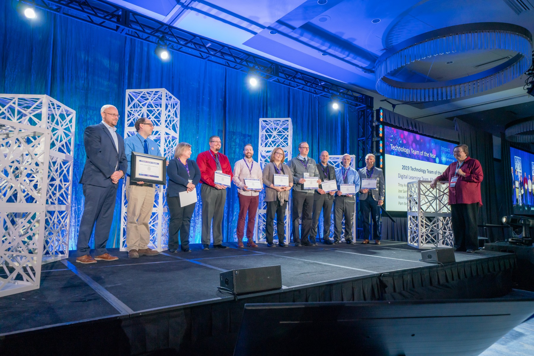 Technology specialists and leaders from the Elk River Area School District were named the 2019 Technology Team of the Year at the Impact Education Conference in Minneapolis.