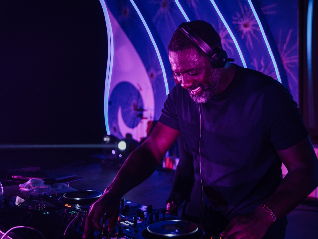 Idris Elba headlining the New Year's Eve celebrations at One&Only Reethi Rah in the Maldives with an energetic DJ set