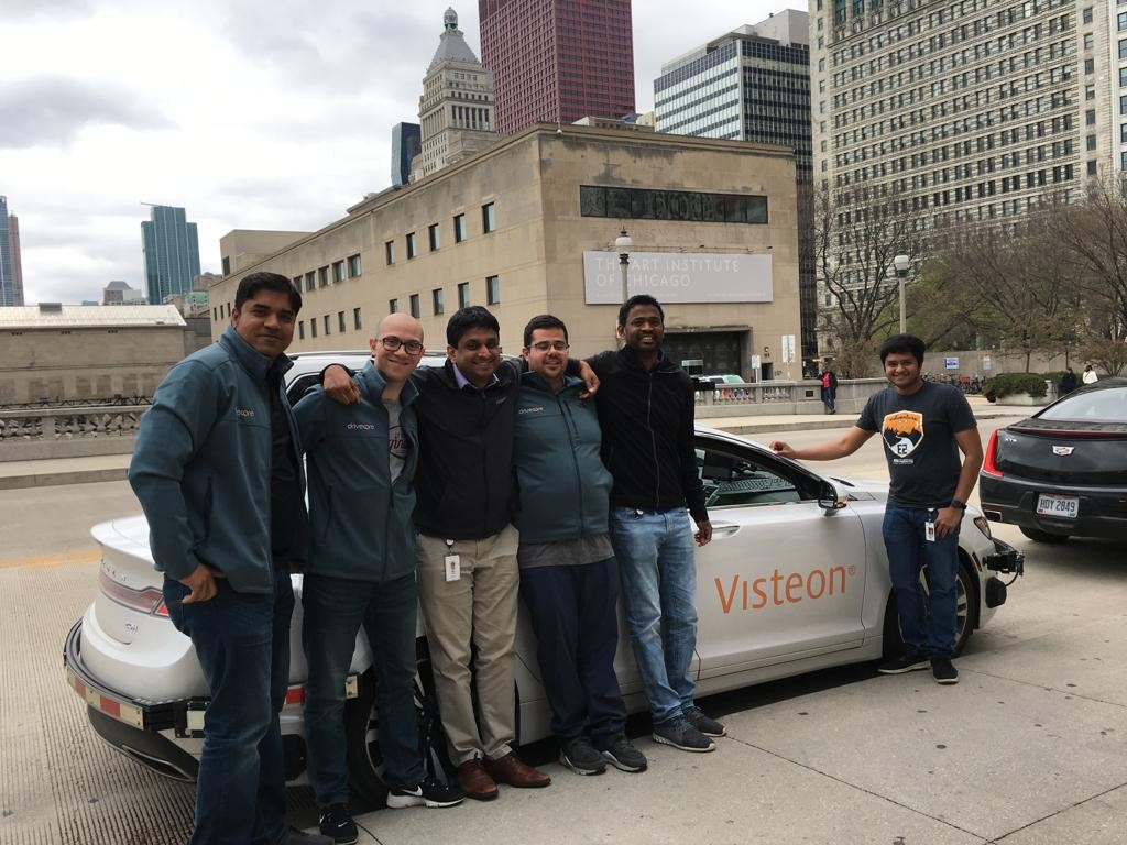 Visteon's test team arriving in Chicago