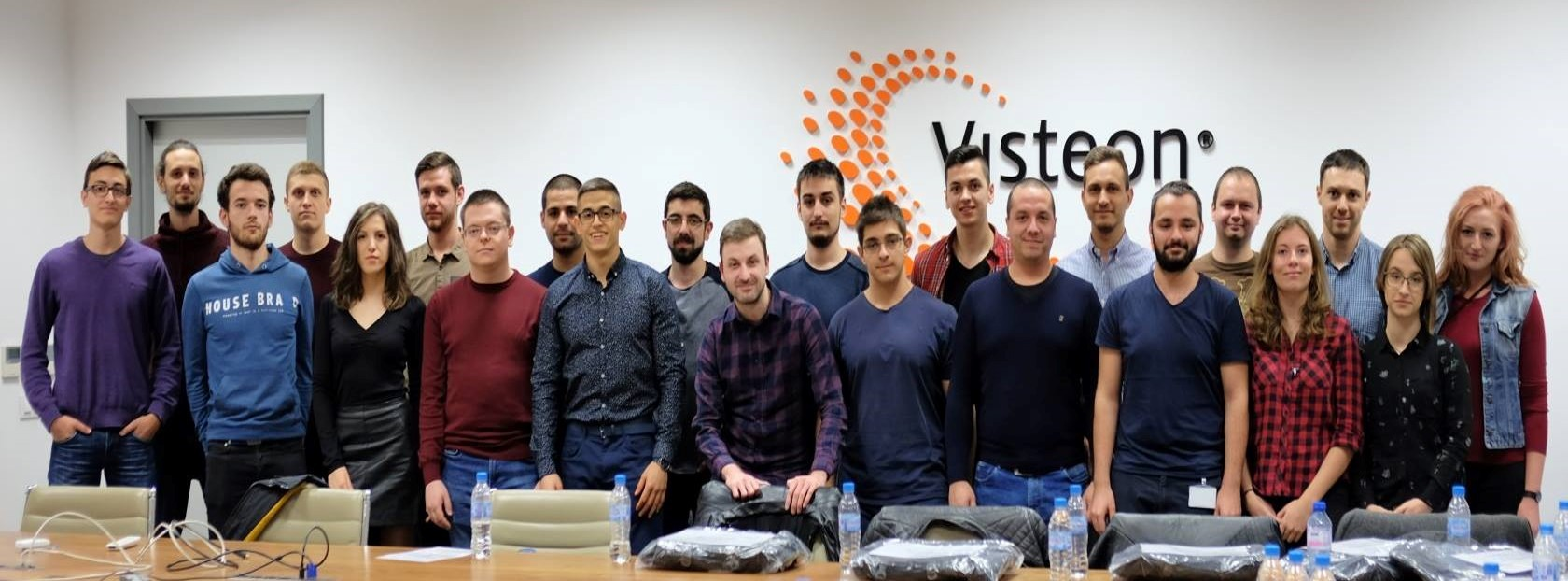 Graduates from Visteon's fourth Engineering Academy program in Sofia, Bulgaria